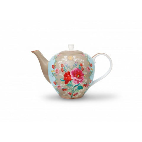 Pip Studio Rose Tea Pot Khaki