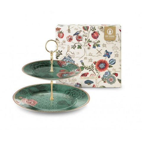 Pip Studio Spring to Life Cake Stand Green