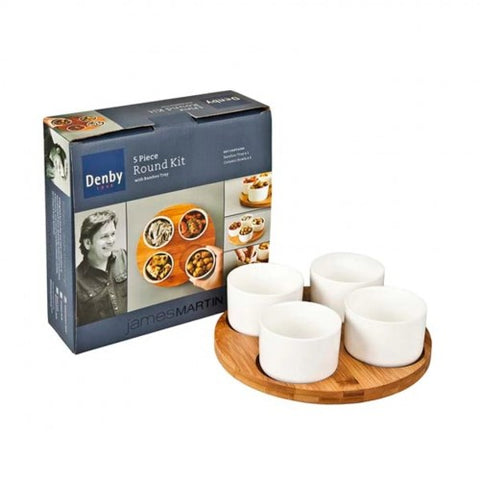 Denby James Martin 5 Piece Bamboo Round Kit