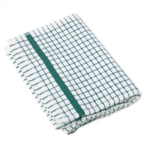 Green Check Tea Towel