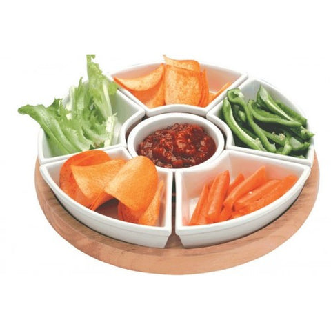 Lazy Susan With Ceramic Dishes