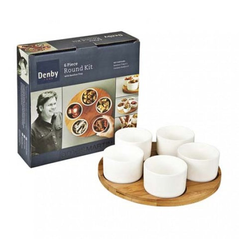 Denby James Martin 6 Piece Round Bamboo Kit