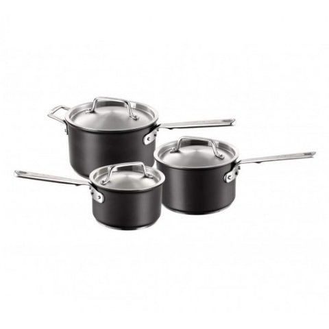 Anolon Hard Anodized 3 Piece Saucepan Set