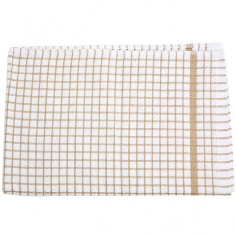 Beige Check Tea Towel