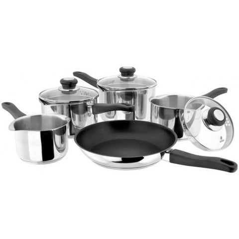 Judge Vista Draining 5pce Saucepan Set