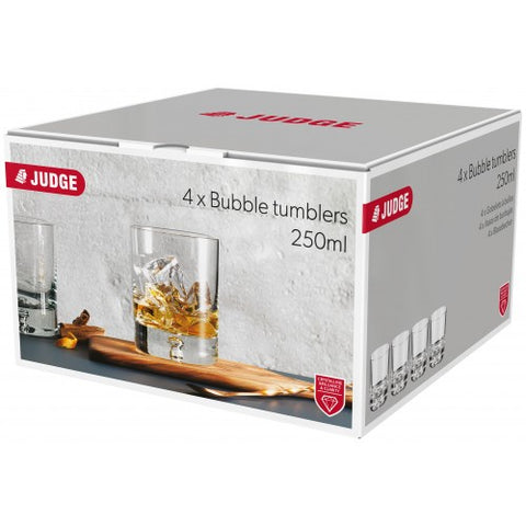 Judge Bubble Tumblers Set of 4