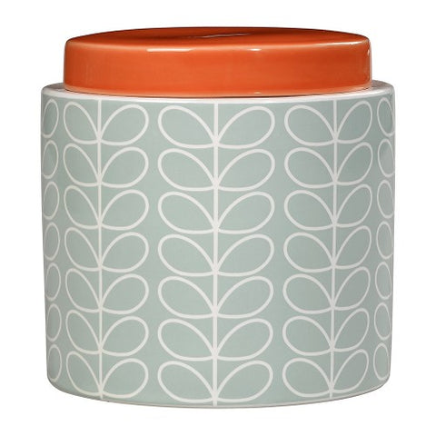 Orla Kiely Linear Stem Storage Jar, Duck Egg Blue
