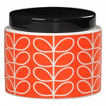 Orla Kiely Linear Stem Small Storage Jar, Persimmon