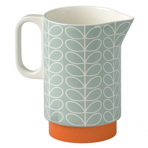 Orla Kiely Linear Stem Pitcher Duck Egg