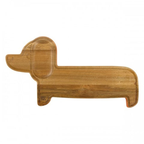 Orla Kiely Wooden Serving Board, Dachshund, Persimmon
