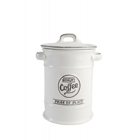 T&G Pride of Place White Coffee Jar