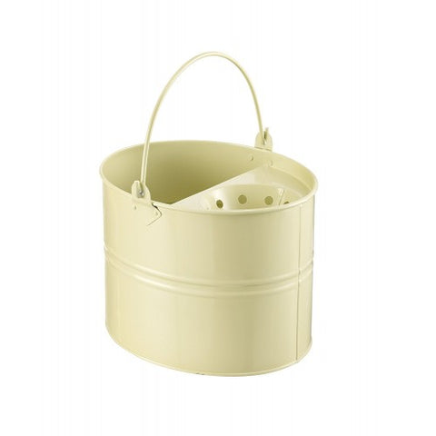 Cream Metal Mop Bucket