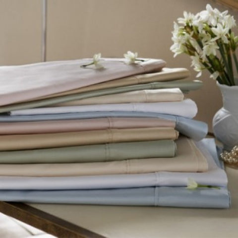 Sanderson Ivory Double Fitted Sheet