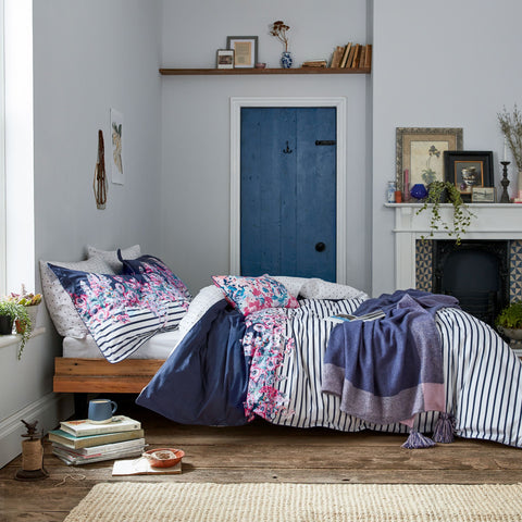 Joules Cottage Garden Border Stripe Superking Duvet Cover