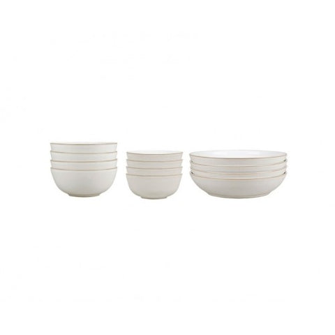 Denby Natural Canvas 12 Piece Bowl Set