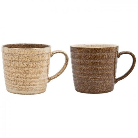 Denby Studio Craft 2 Piece Alt Ridged Mug Set