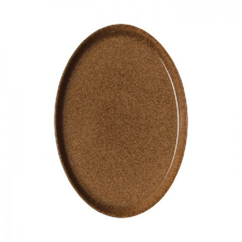 Denby Studio Craft Chestnut Medium Oval Tray