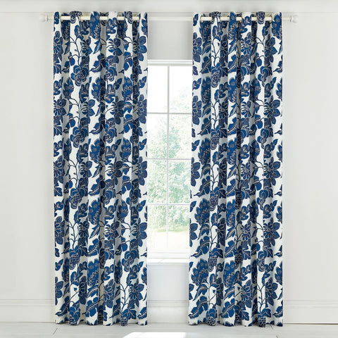 HS Paloma Lined Curtains 66X72 (168X183Cm) Nautical