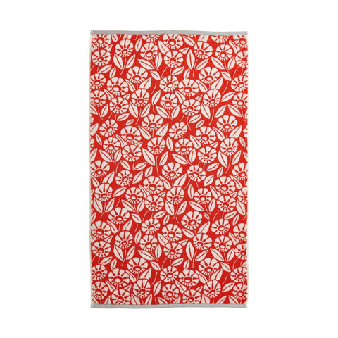 HS Tivoli Towels Sheet Coral