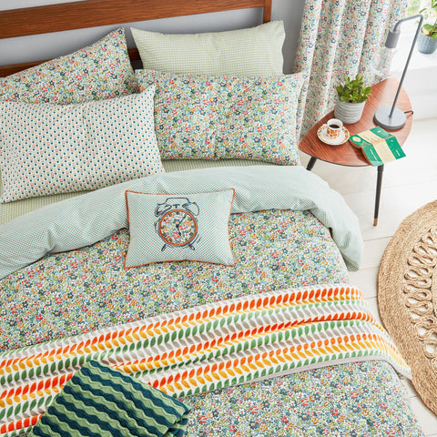 HS Dottie Spring Green Single Duvet Cover Set