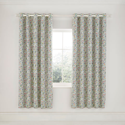 HS Dottie Spring Green Lined Curtains 66x72