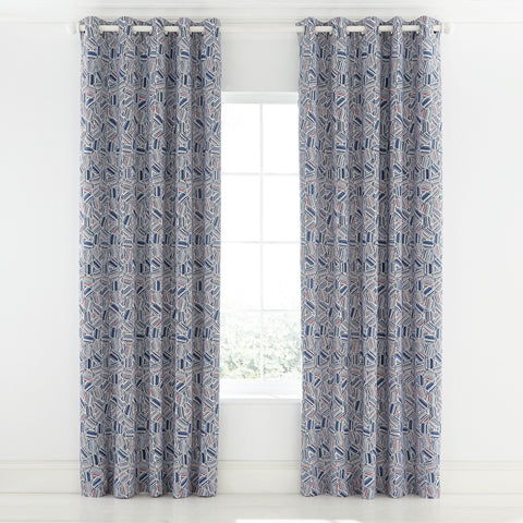 HS Larvotto Nautical Lined Curtains 66x90