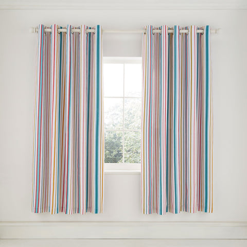 HS Trixie Duck Egg Lined Curtains, 66x72
