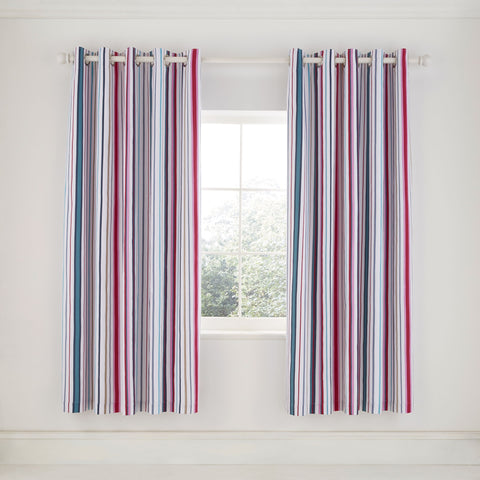 HS Trixie Raspberry Lined Curtains, 66x72