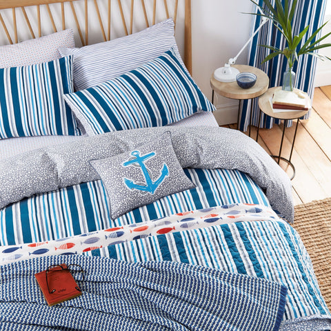 HS Tropez Nautical Kingsize Duvet Cover Set