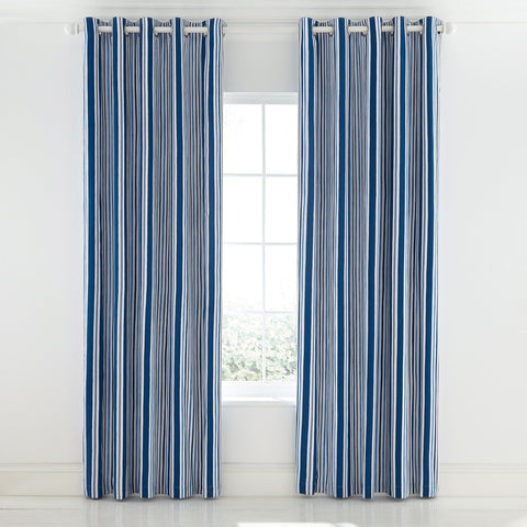 HS Tropez Nautical Lined Curtains 66x72