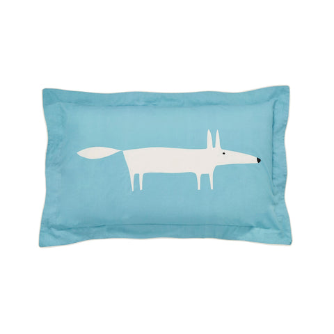 Scion Mr Fox Teal Oxford Pillowcase