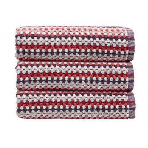 Christy Carnaby Stripe Berry Bath Sheet