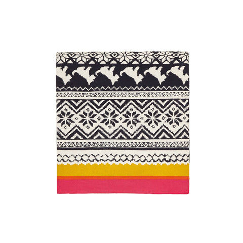 Joules Heritage Knitted Throw 140X200Cm Gold