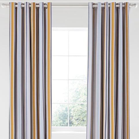 Scion Lintu Lined Curtains 66x90, Eyelet