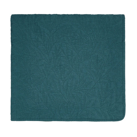 Morris & Co. Little Chintz Quilted Throw 140X200Cm Teal