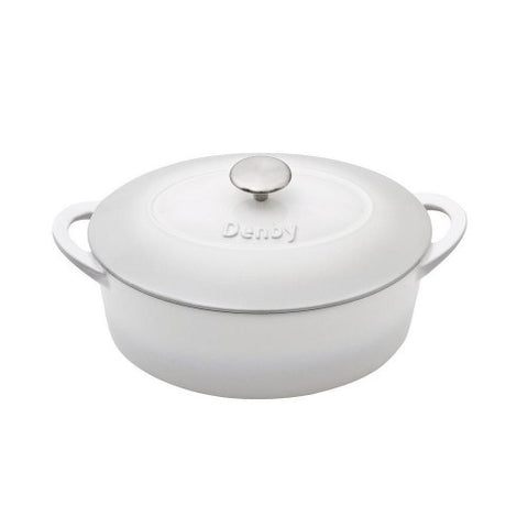 Natural Canvas Cast Iron 28cm Oval Casserole