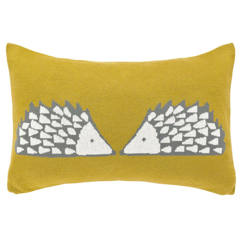 Scion Spike the Hedgehog Cushion, Ochre (30 x 50cm)