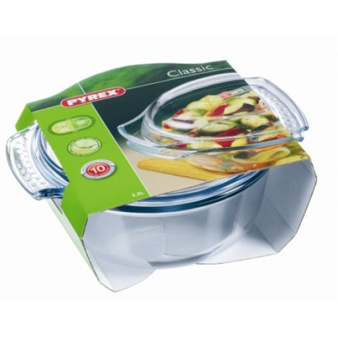 Pyrex Glass 2.5L Round Casserole with Lid