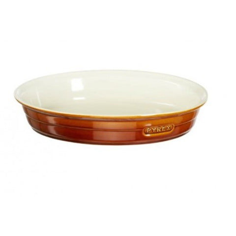 Pyrex Brown Oval Dish 37x25cm