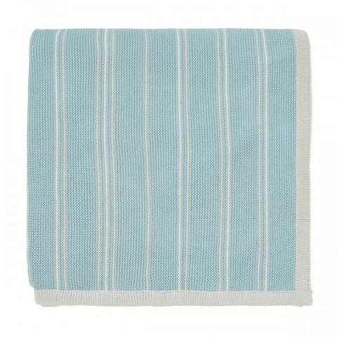 Sanderson Pippin Teal Knitted Throw