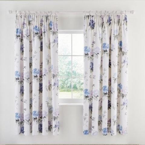 Sanderson Rhodera Lined Curtains Amethyst/Charcoal