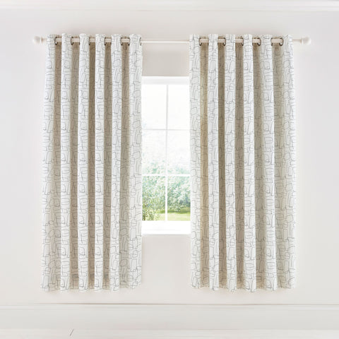Scion Composition Lined Curtains 66X90  Putty