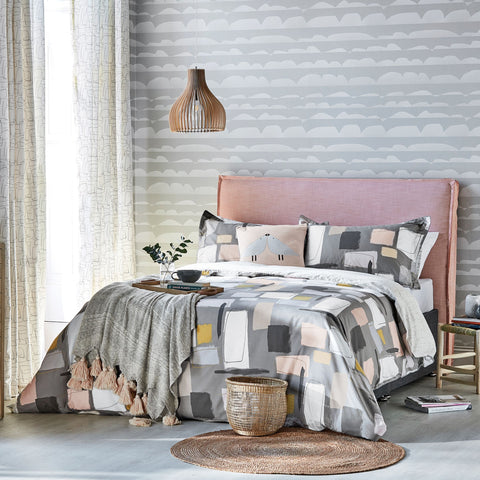 Scion Composition Duvet Cover D/B Putty