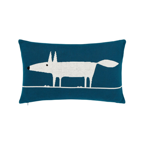 Scion Mr Fox Knitted Cushion, Marine (30 x 50cm)