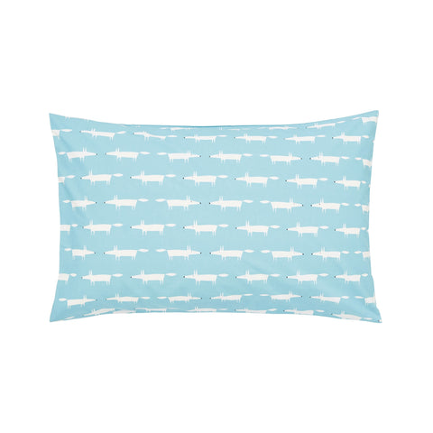 Scion Mr Fox Teal Standard Pillowcase Pair