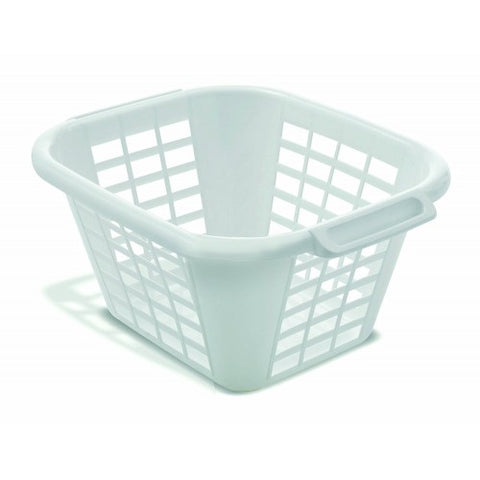 Addis Square Laundry Basket White