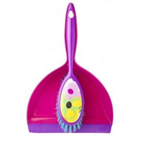 Vigar Watercolour Dustpan and Brush Set