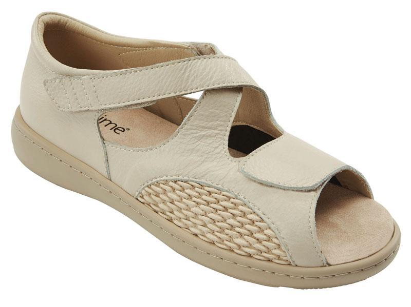 Drew Roomy Open Toe Sandal Beige