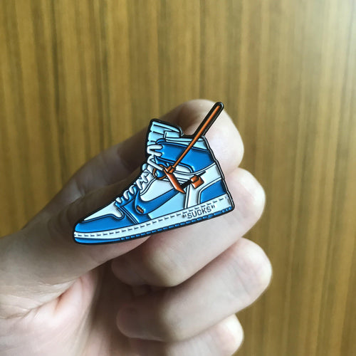 Pins Air Jordan 1 x Off White BlueSneakers Wall Star- accessoires sneakers addict