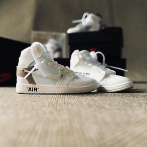 Porte-clés sneakers 3D : Air Jordan 1 x Off White - WhiteSneakers Wall Star- accessoires sneakers addict